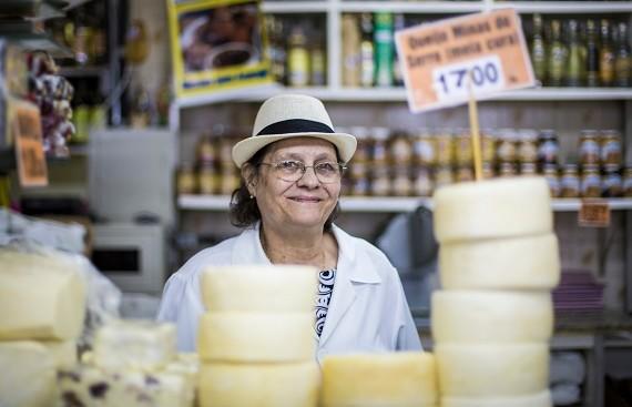 01-03-2016 / Belo Horizonte-MG-Brasil  Campanha para o dia das mulheres para o Mercado Central. Retratos de personagens mulheres tradicionais do mercado.  Fotos: Área de Serviço